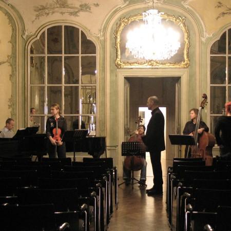 Der herrliche Kammermusiksaal auf Schloss Neuwied