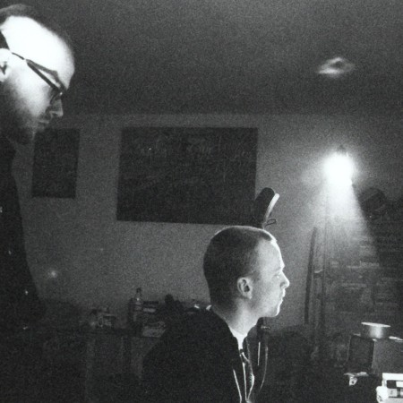 RIG und Toby 1995 bei Aufnahmen zu Klotz am Bein