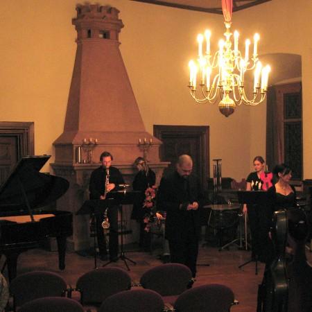 Generalprobe im Rittersaal auf Burg Kriebstein