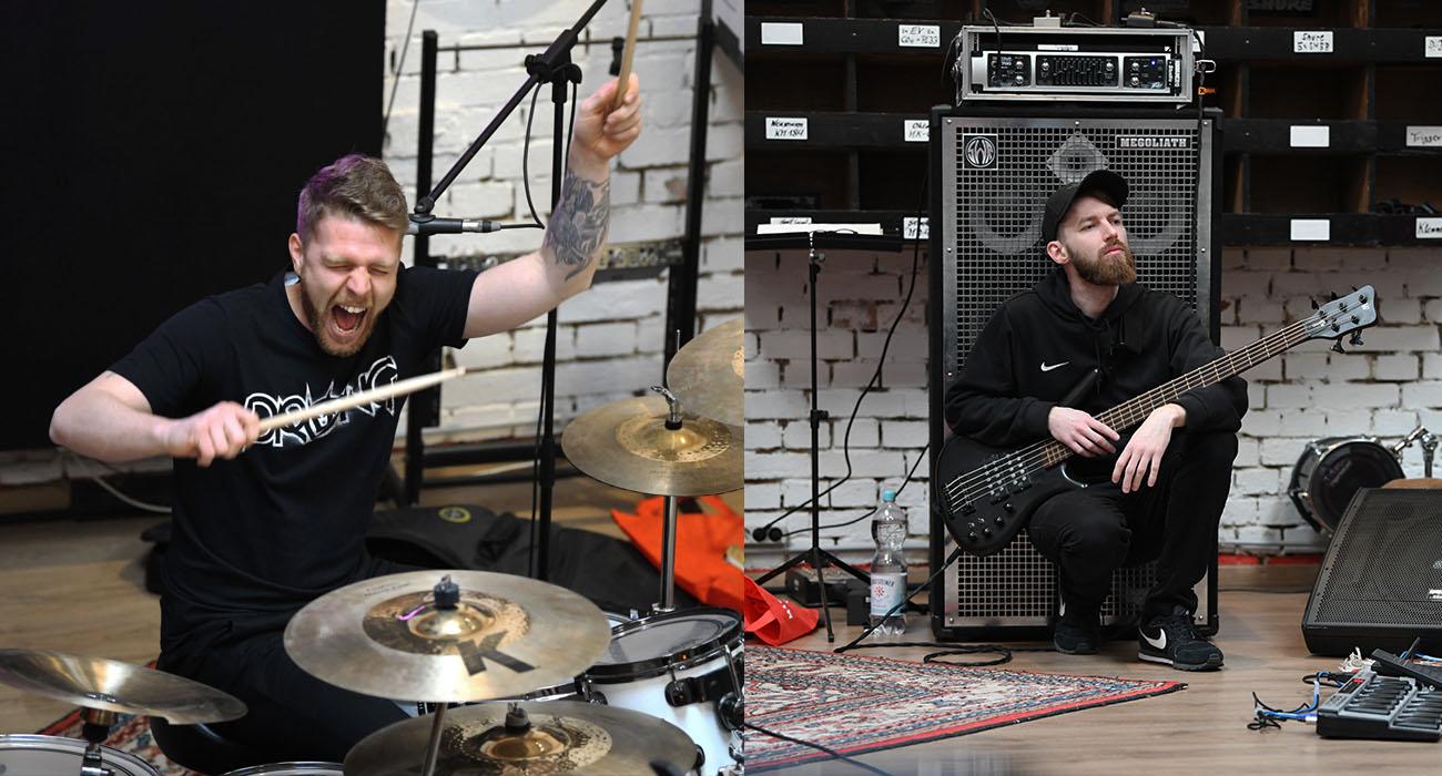Sascha Baransky (Schlagzeug | links) und Björn Hechler (Bass | rechts)