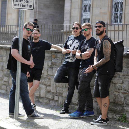 Die Band nutzte die Gelegenheit um erste Eindrücke zu gewinnen.