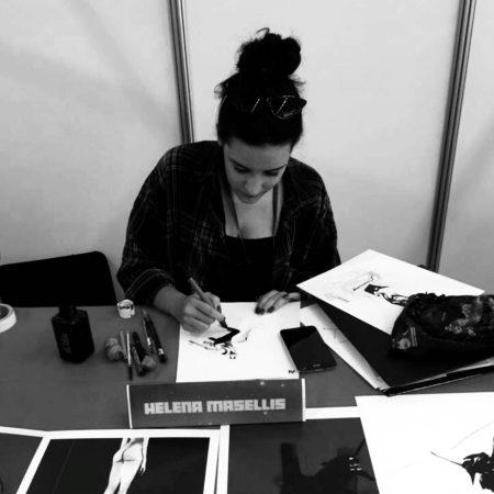 """Die überaus talentierte Comic Zeichnerin Helena Masellis ist für die Graphic Novel zu """"Terror"""" zuständig."""