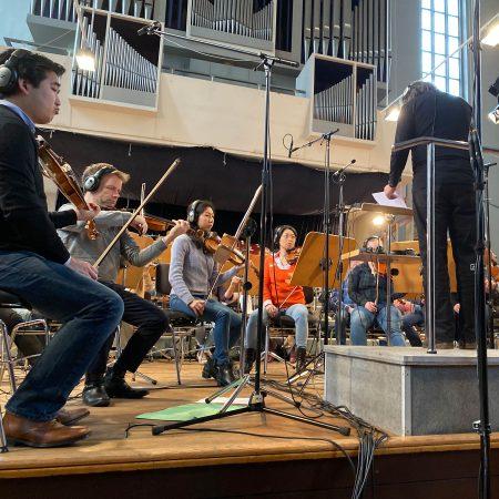 Orchesteraufnahmen in Frankfurt an der Oder mit Mitgliedern des Brandenburgischen Staatsorchesters.