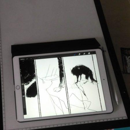 Helena zeichnet weite Teile der Graphic Novel auf ihrem iPad Pro mit der Software ProCreate